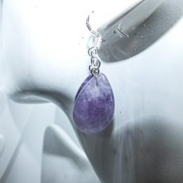 améthyste boucles pendantes