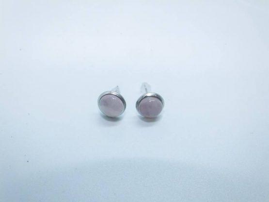 quartz rose bijou boucles d'oreilles