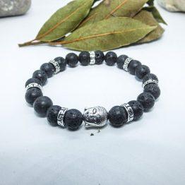 bracelet bouddha pierre lave
