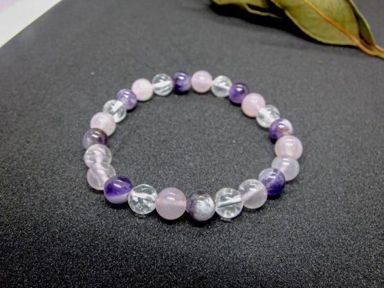 bracelet améthyste cristal de roche