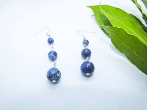 boucles sodalite bleue