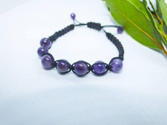 bracelet avec amethyste