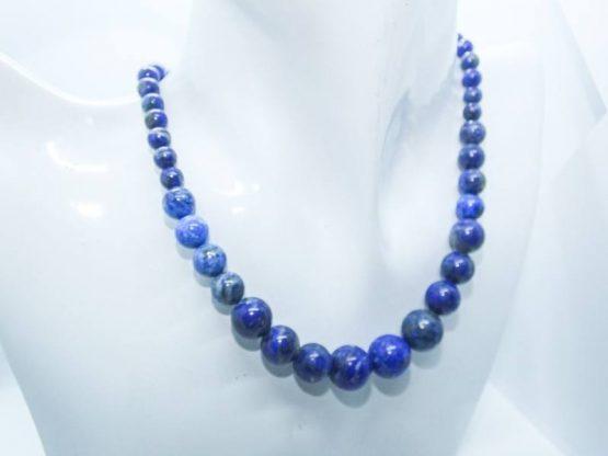 collier perles lapis lazuli