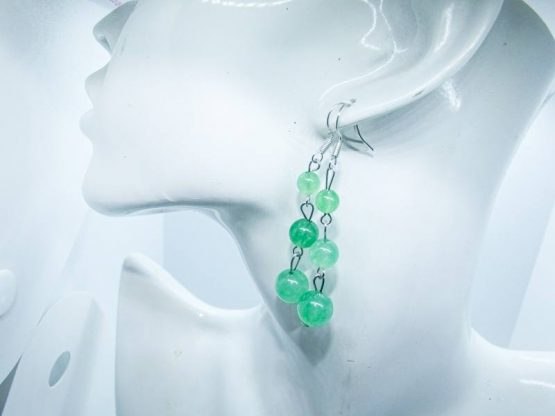 "aventurine verte bijou boucles d""oreilles"