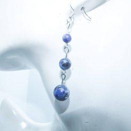 boucles d'oreilles bijou sodalite