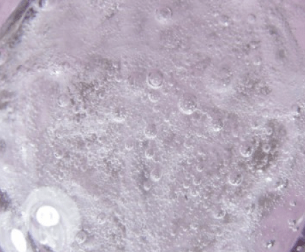 faux cristal de roche avec bulles