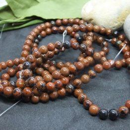obsidienne rouge perles 6mm