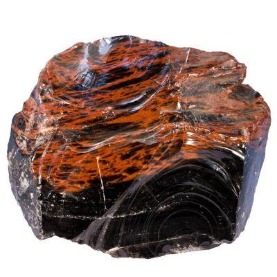 obsidienne acajou brut