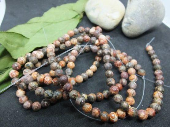perles jaspe léopard 6mm