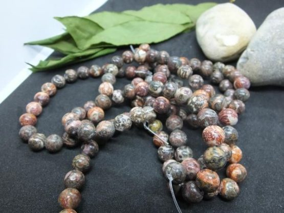 jaspe léopard perles 8mm