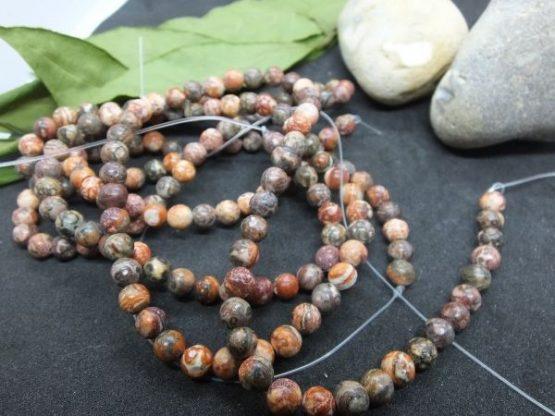 perles léopardite 6mm