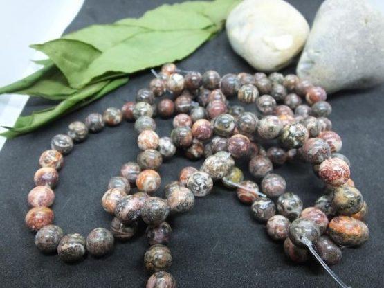 perles rhyolite 8mm