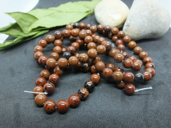 obsidienne mahogany perles 8mm