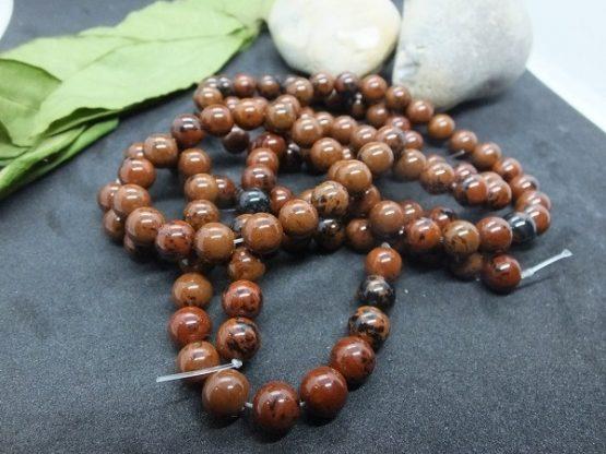 perles obsidienne rouge 8mm