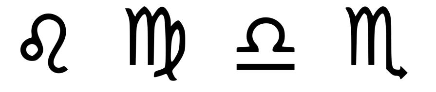 vertus des pierres signe astrologique lion, vierge, balance, scorpion