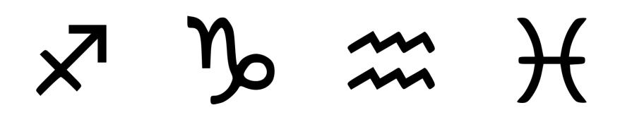 vertus des pierres par signe astrologie sagitaire, capricorne, verseau, poissons