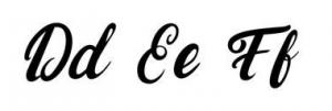 Pierres par vertus lettres d,e,f