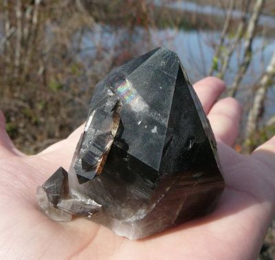 fausse pierre quartz fumé morion