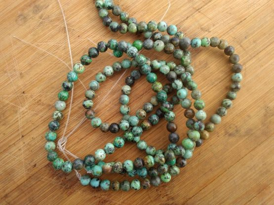 perles en turquoise africaine
