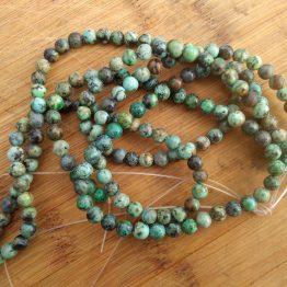 turquoise africaine 6mm perles